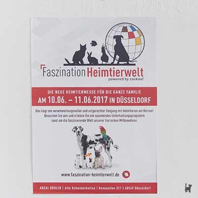 Plakat der Faszination Heimtierwelt 2017