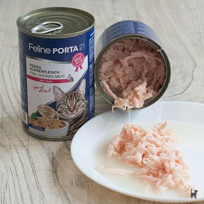 Feline Porta Nassfutter für Katzen