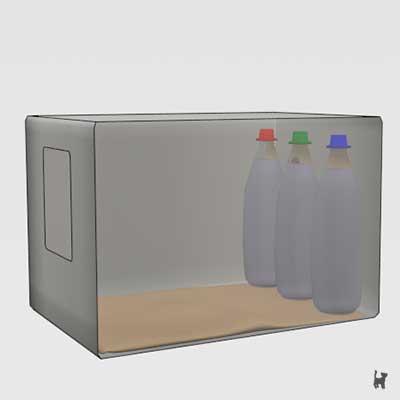 Schema eines Katzenkühlschranks