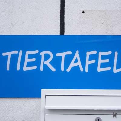 Schild am Eingangsbereich der Tiertafel Gelsenkirchen