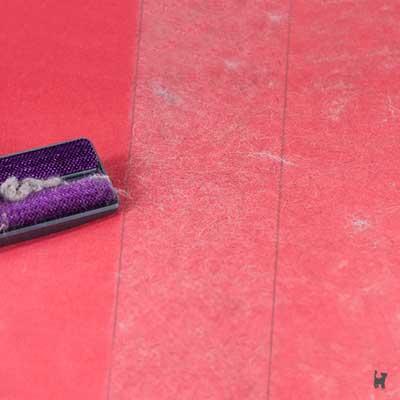 Verbliebene Fellmenge nach Entfernung mit Staubsauger im Vergleich zur Nutzung der Minipocket-Bürste