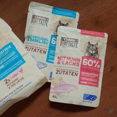 Coshida Pure Taste wird in Beuteln verkauft