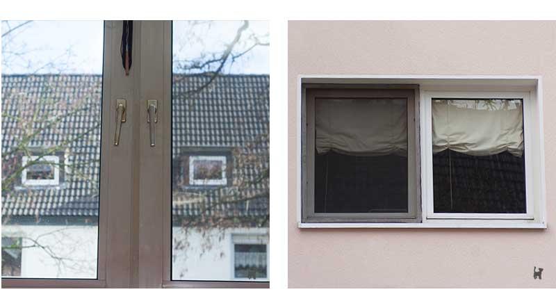 Innen- und Außenansicht des Fensterschutzes