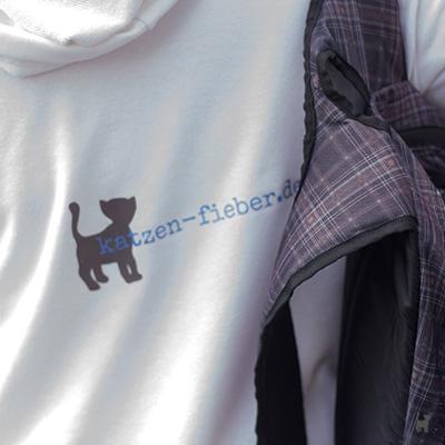 Shirt mit Rückenaufdruck 'katzen-fieber.de'