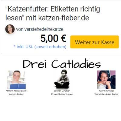 """Mein zweites Webinar """"Katzenfutter: Etiketten richtig lesen"""" im elopage Shop"""