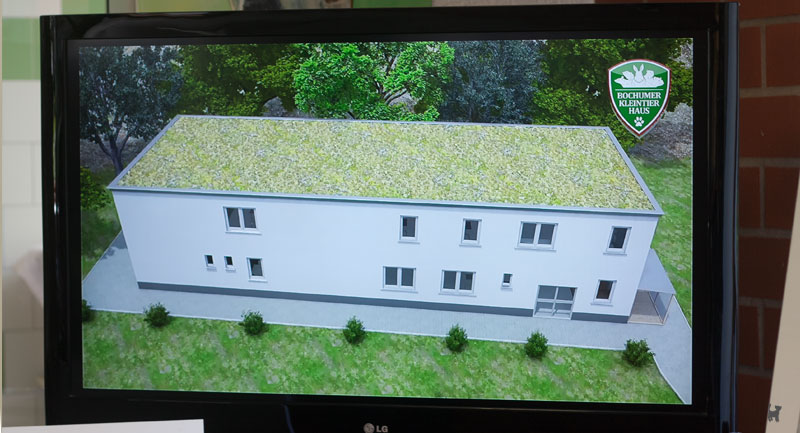 Animation zum Neubau des Kleintierhauses