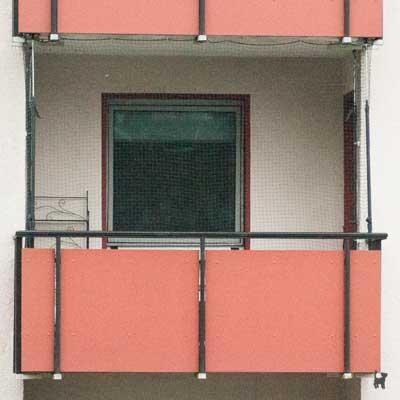 Unser abgesicherter Balkon
