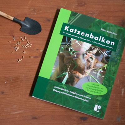 """Die Umschlaggestaltung des Buchs """"Katzenbalkon"""" gleicht der des ersten Bands der Reihe"""