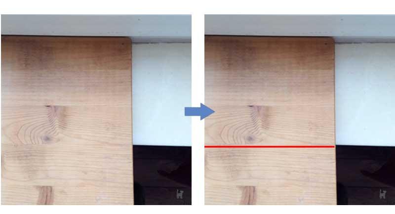 Holzbrett auf Fensterbank