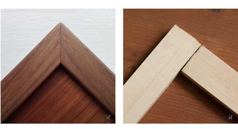 Eckverbindungen von Holzleisten: Gehrung und stumpfe Verbindung