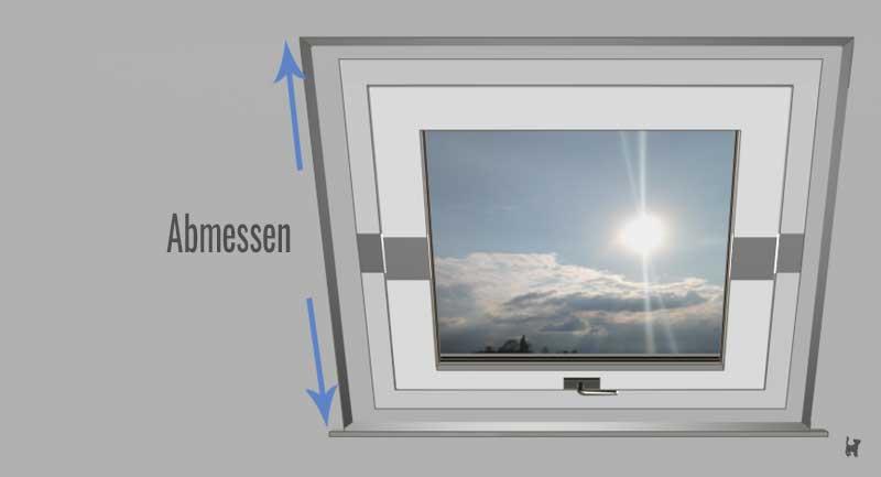 Dachfenster abmessen