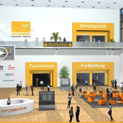 Einblick in den Eingangsbereich der bpt-INTENSIV 2021 (Bildrechte: bpt-Akademie GmbH)