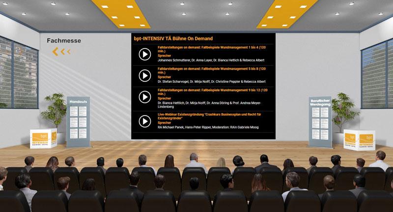 Virtueller Vortragsraum