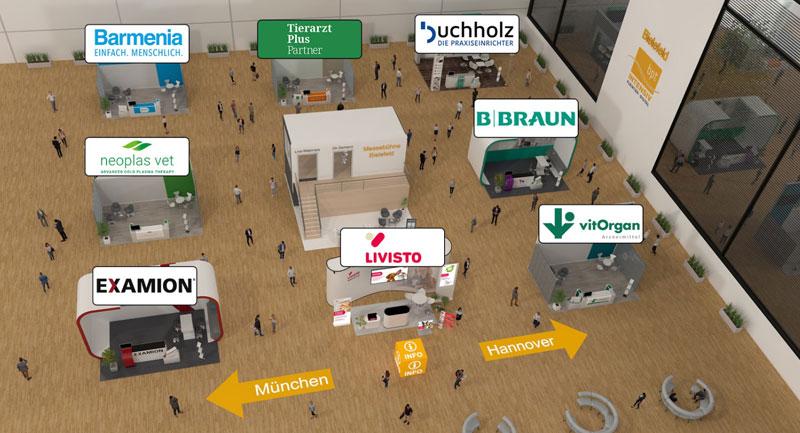 Virtuelle Messehalle